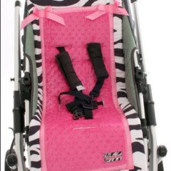 Ht pink and Zebra Print stoller Cover