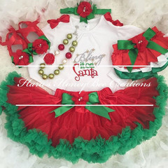 Bring it on Santa Christmas outfit-Christmas Outfit- Includes Top,Skirt, headban
