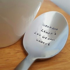 Custom Grandparent Gift,Grandma, Grandpa, Hand stamped Spoon