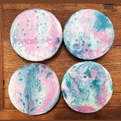 Coasters ( 4 set) Unicorn Glitter Resin
