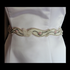 Butterfly Rose Bridal Sash