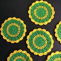 'My Team - Colours of Australia' Set of Six Coasters