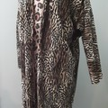 Megawing Dolman Cardigan in Leopard Print Large