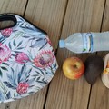 Golden Wattle - neopren - lunch bag - handmade