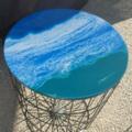 Ocean Resin Storage Table