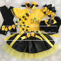 6pcs set Personalised Yellow Wiggles Emma inspired outfit