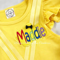 4-pcs set Personalised Yellow Wiggles Emma inspired outfit
