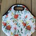 Banksia - floral - neopren - lunch bag - handmade
