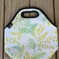 Golden Wattle - neopren - lunch bag - handmade