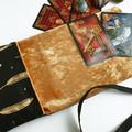 Gold Tarot Card Bag,Velvet Lenormand Pouch, Gold Leaf