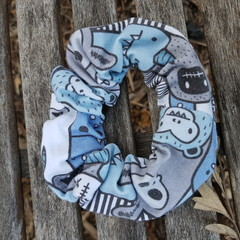 Devonport Scrunchie in Monsters print