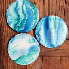 Coasters ( 3 set)  Ocean Resin