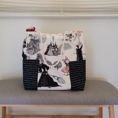 Haunted tote // market bag // beach bag // eco friendly shopper // Addams Family
