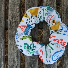 Devonport Scrunchie in Earth Print