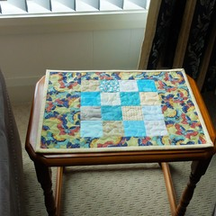 Patchwork quilted Candle Mat or Mug Rug, Snack Mat, place mat