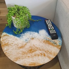 Ocean Resin Storage Table