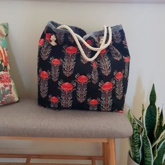 Waratah tote // market bag // beach bag // eco friendly shopper // native flower