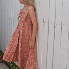 Girls Boho Dress, halterneck floral dress