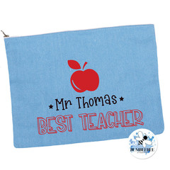 Best Teacher Gift Pencil case Personalised Large Zip Pouch Makeup Bag