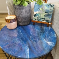 Galaxy Resin Storage Table
