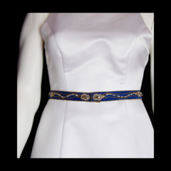 Mostly Gold Bead Embroidered Belt