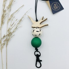 Betty Bird Lanyard - Emerald Green