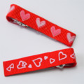 Pair of Love Hearts 2 styles  Baby / Girls Hair Clip / Clips