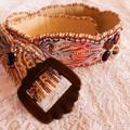 Hand Beaded Silk Shibori Belt