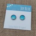 Mermaid blue stud earrings