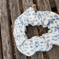 Devonport Scrunchie in Rainy Days print