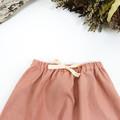 Blush Pink Linen Baby Harem Pants - Girls Loose Fitting Linen Yoga Pants
