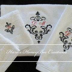 Personalised Towels setl,washcloth ,Hand Towel ,Bath Towel