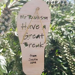 Custom Aussie Christmas Tree Decoration,Teacher Thank You,Laser Cut,Thong