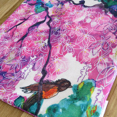 Cushion Cover - 'Bird and Blossoms'