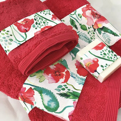 Luxury Bath towel set,Facecloth, hand towel,bath towel , free soap