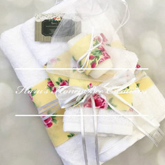 Bath towel set, face cloth, hand towel,  bath towel, free soap