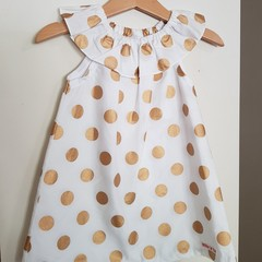 Girls Gold Spot Christmas Dress 