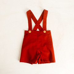 Baby Boys Christmas Outfit, Toddler Suspender Shorts Pants with Braces
