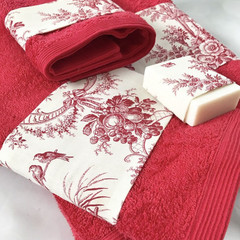 Luxury Bath towels set,facecloth, hand towels, bath towel Free soap