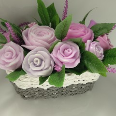 Flower bouquet,made from soap