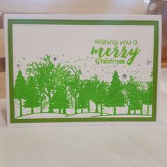 Winter Trees Christmas Card, Merry Christmas