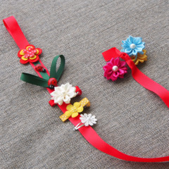 Hair clip organiser - Flower and ladybird.