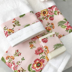 Luxury Bath towel set , facecloth hand towels, bath towel Free soap