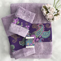Luxury Bath towel set,purple towels, facecloth,hand towels, bath towel