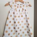 Girls Gold Spot Christmas Dress  Size 0