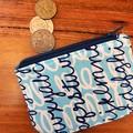 Coin purse - cursive writing