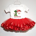 My 1st Christmas bodysuit with red tutu. Customise with name.