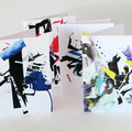 Set of 3 cards, art cards, blank cards, greeting cards, triple treat