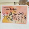 Wishing You A Wonderful Day Birthday Card, Poppy Flowers