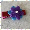 Vibrant felt hair clip Designed by our resident Junior Maker